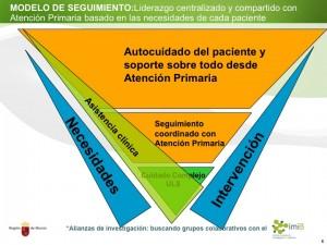 Modelo de Seguimiento: basado en las necesidades, intervenciones compartidas, y estímulo de autocuidado